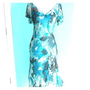 Laundry by Shelli Segal Silk Midi Dress